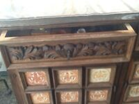 125 year old antique buffet