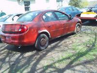 2000 Chrysler Neon PARTS OR REPAIR