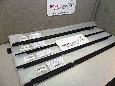 Toyota 4Runner 03-09 Door Belt Moulding Weatherstrip Set 4pc. Genuine OEM OE, used for sale  Bloomington