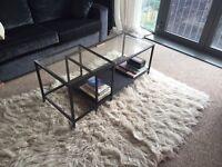 Ikea black VITTSJO table for sale