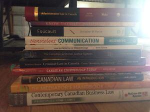 Justice Studies Royal Roads textbooks semester 1,2,4