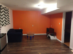 All Inclusive- New furnished Bright Basement Apartment ready now