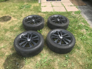 Black 16 inch 2017 Volkswagen rims and new tires