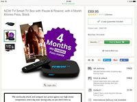 NOW TV smart tv box with 4 month movie pass