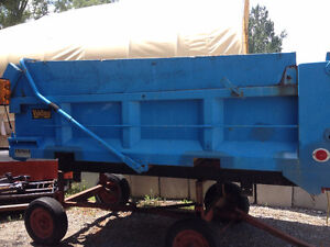 single axle dump truck hydraulic dump box