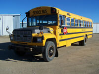 1986 Ford 60 Pass School Bus - Good 370 Engine