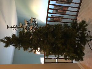 "6' 6"" artificial evergreen Christmas tree"