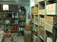 Old Weathered Vintage Wooden Crates and Boxes