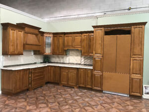 Floor Model Clearance! Solid Maple Cabinets with Granite Counter