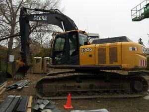 2006 John Deere 270D excavator.