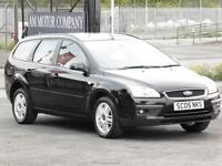 Ford Focus 1.6 2005 Ghia Estate, Black, 6 Months AA Warranty, 1 Years Mot