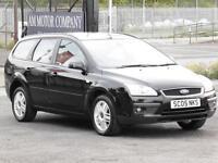 Ford Focus 1.6 2005 Ghia Estate, Black, 6 Months AA Warranty, 1 Years Mot