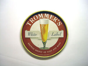 Trommers White Label Beer Tray