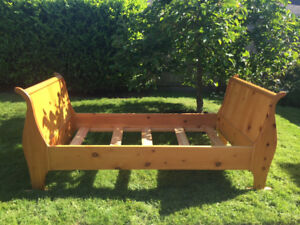 All WOODEN SLEIGH BED