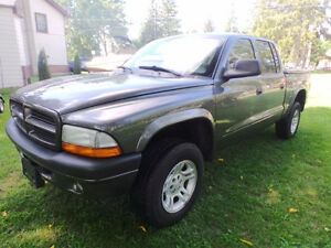 2003 DODGE DAKOTA SPORT, 4X4, 4.7LV8, FULL 4 DOOR