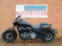 Harley Davidson FXFBS Fat Bob 114 Soft tail custom cruiser in vivid black