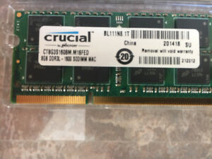 Ram for Mac  - 8 and 2 GB sticks