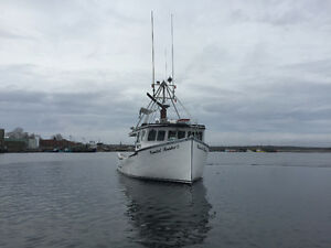 """Lobster fishing boat 44'11"""" + 5'x 17'6"""" Available in June"""