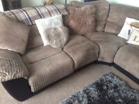 Reclining corner sofa and chair