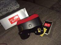Brand new matte black Rayban wayfarer designer sunglasses