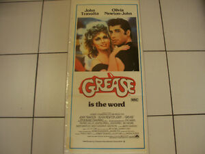 """Classic """"Grease Is The Word"""" Theatrical Movie Poster Circa 1978"""