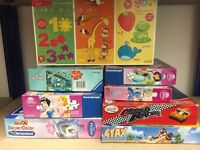 Bag of children's puzzles and games