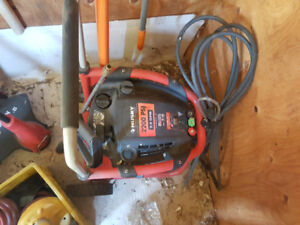 Power washer and handheld leaf blower vacuum