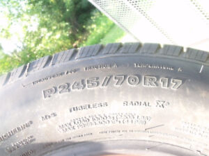 One 245/70/17 tire for sale.
