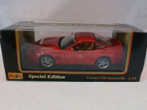 Maisto 1/18 Scale: Ferrari 550 Maranello (1996) Die Cast . NEW!!