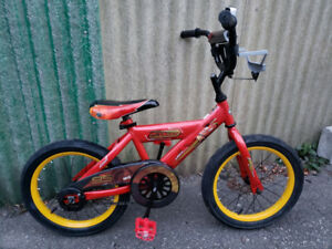 Lightning McQueen 16inch HUFFY bike Like New Condition $60