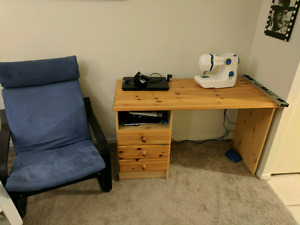 Desk and Chair $60 for both