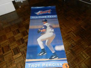 Troy Percival Anaheim Angels HUGE signed Stadium banner MLB