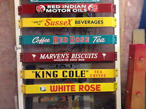 RETRO STYLE KING COLE, RED INDIAN, WHITE ROSE, COCA COLA BARS