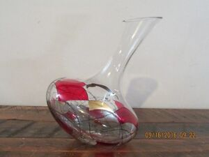 *GORGEOUS* Stained Glass Wine Decanter *NEVER USED*