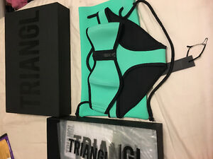 Mint Colour Triangl Bathing Suit