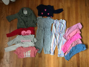 6-12 months toddler girl clothing lot
