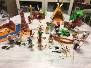 PLAYMOBIL ABORIGINAL/TEEPEE/ DESERT/GOLD MINING SET