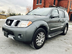 2009 NISSAN PATHFINDER LE TOP OF LINE 7 PASSENGER,LEATHER,ROOF!!