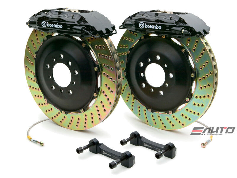 Brembo Front Gt Brake Bbk 4piston Black 355x32 Drill Disc Ferrari 550 575 96-05