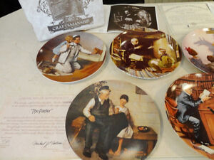 Set of 10 Knowles Ltd. Edition Norman Rockwell Collector Plates Kitchener / Waterloo Kitchener Area image 2