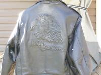 manteau de cuir harley davidson