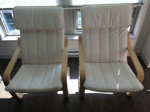 Two IKEA POÄNG armchairs - $110 for both / $60 ea