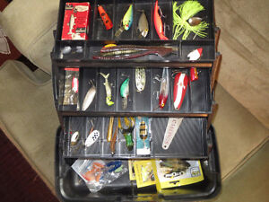 Fishing Tackle Box with Lures