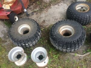 22-11-8 ATC TIRES WITH HONDA RIMS AND YAMAHA RIMS