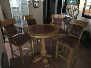 Pub Style Table & Chairs for Sale
