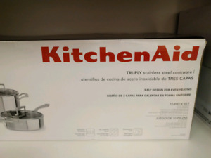 kitchenaid 10-pc. tri-ply stainless steel cookware set