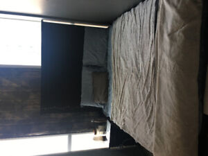 Black IKEA bed frame in great condition for 50.00