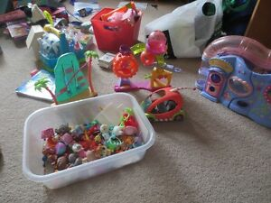 Collection of Littlest Pet Shop Toys and Playsets
