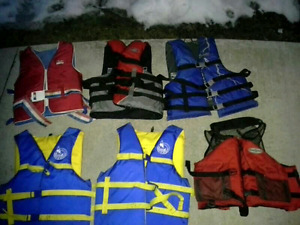6 Life Vests. 6/$140 or Buy Separately