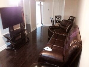 1 bedroom fully furnished and renovated Basement apartment